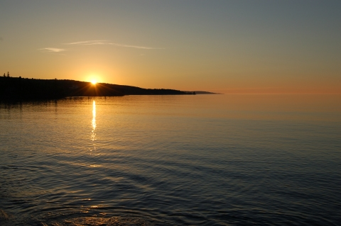 Grand Marais sunrises are just 20 minutes from 142C in Lutsen, MN
