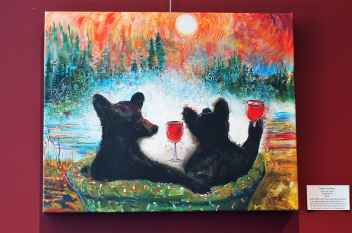 NS Wine bear painting Hess