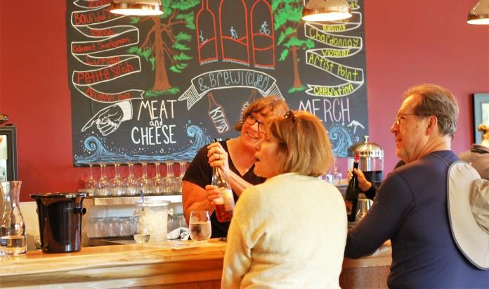 NS Wine customers and Kim