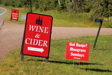 NS Wine signage