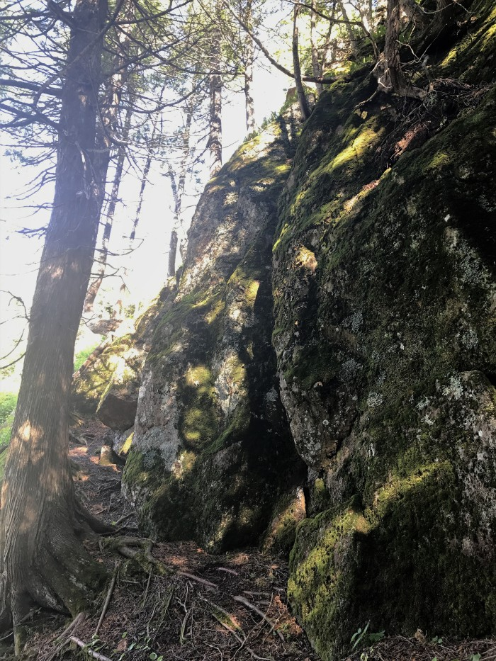 Fascinating rock formations along the Superior Hiking Trail at Lutsen Mountains