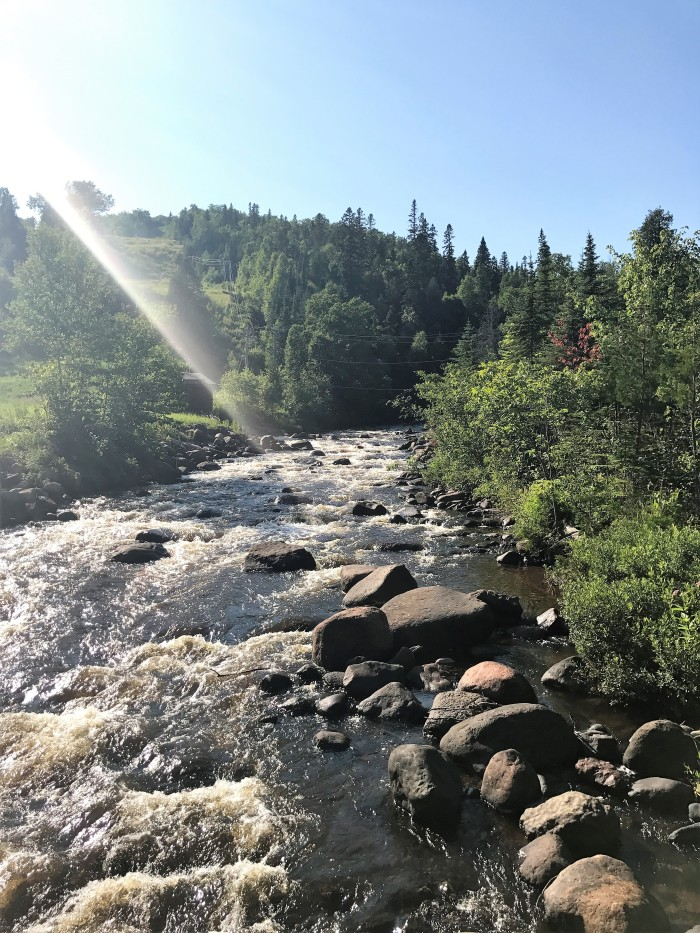 A close to a wonderful hike leads us to the Poplar River at Lutsen Mountains, MN