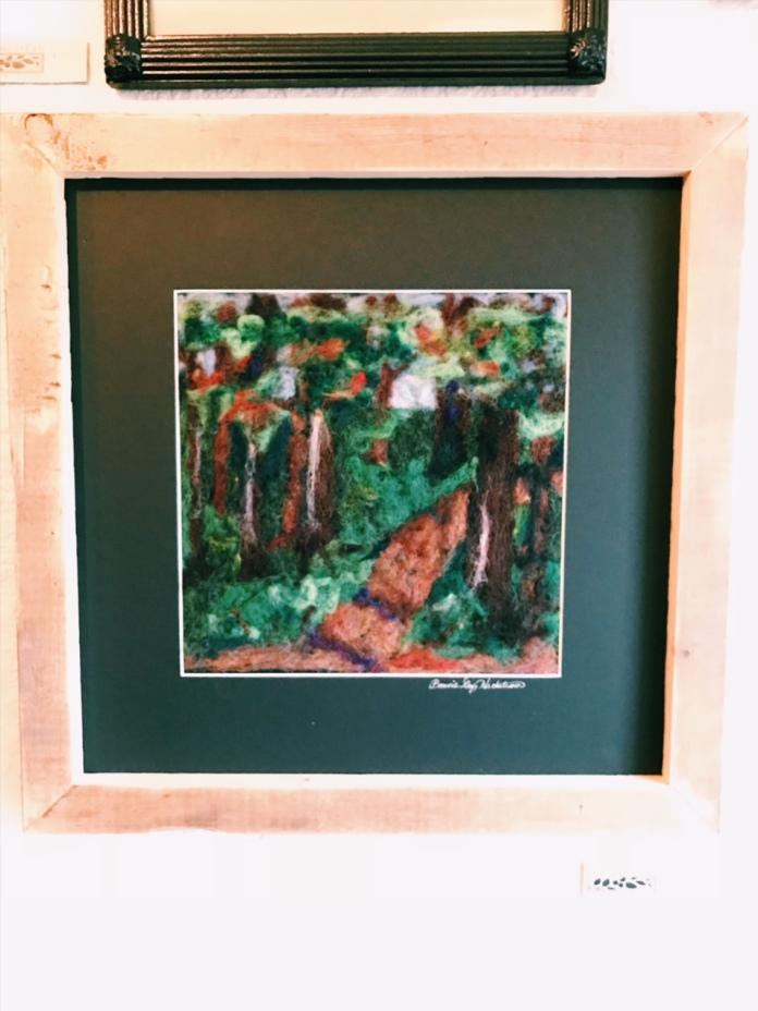 Felted woodland scene - so lovely!