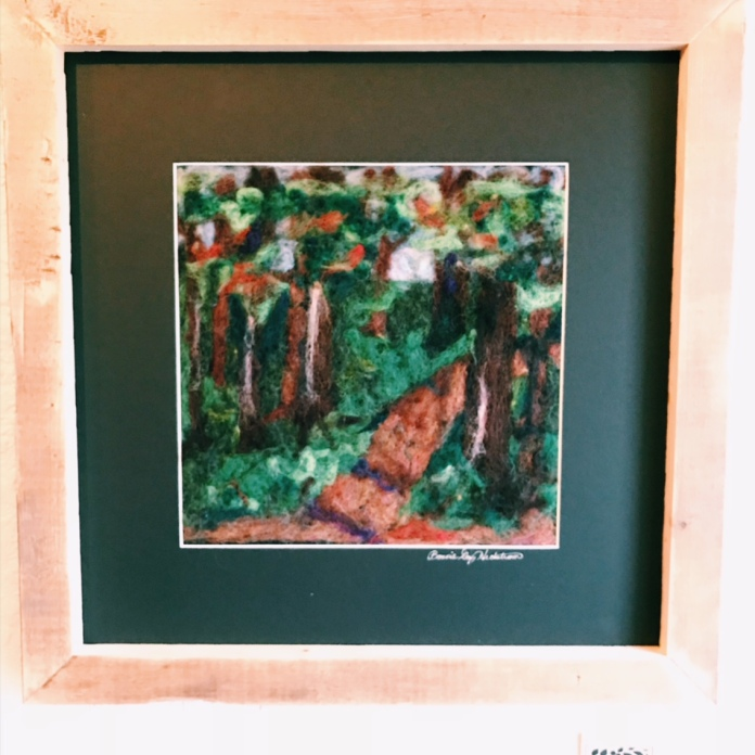 Felted woodland scene - so lovely!