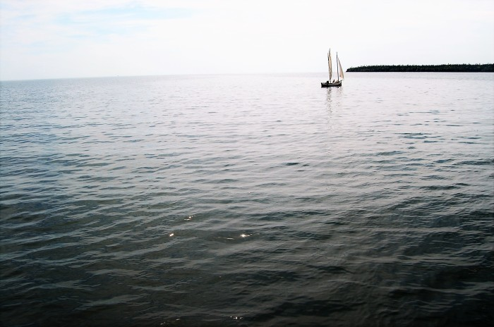 Sailboat on Lake Superior at Grand Portage, MN taken by www.FromLutsenwithLove.com