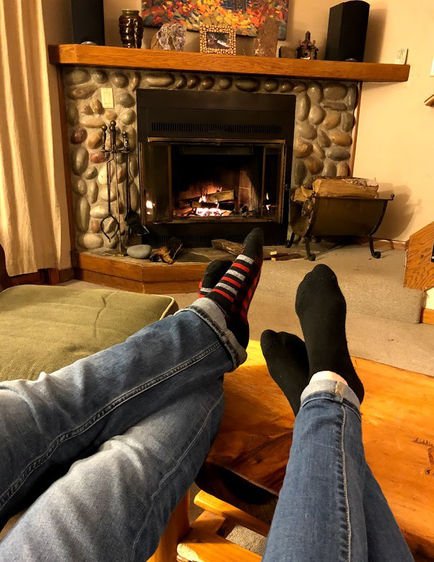 Relaxing in condo 142C at Caribou Highlands