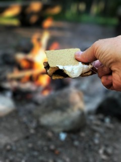 Smores in Lutsen MN around the campfire