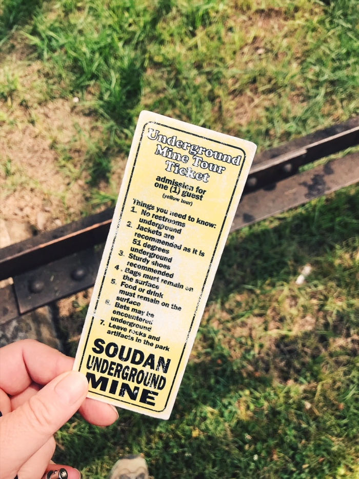 Soudan Mine, Minnesota State Park, Ticket