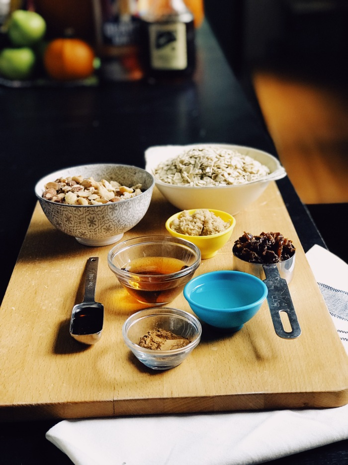 Ingredients for Lutsen's Maple Granola recipe