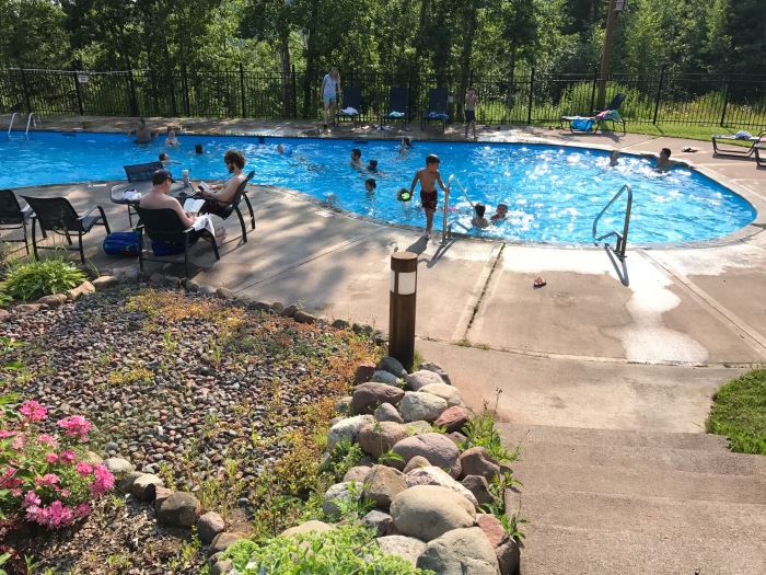 Caribou Highlands outdoor pool Northern MN resort
