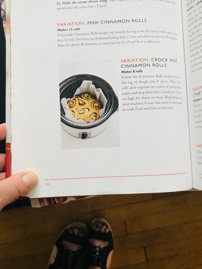 Zoe Francois crock pot cinnamon rolls, Lutsen MN, From Lutsen with Love